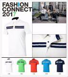 2017枚のゴルフTシャツの不足分の袖乾燥した適合の夏のスポーツシャツ