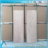 Madera contrachapada plana de la talla del panel de la puerta con la chapa de Okume hecha frente
