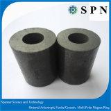 Anéis aglomerados do núcleo do ímã da ferrite de Permanet ferrite cerâmica para os motores de piso