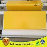 doble 130mic echado a un lado/cinta del bordado del amarillo de la ropa de la cinta de la cara