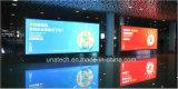 空港屋内壁に取り付けられた広告の表示LED旗の印刷のライトボックス