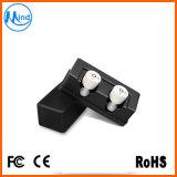 Черный/белый/голубой/розовый CSR Bluetooth V4.2 цвета True беспроволочные наушники Earbuds с поручая случаем 1500mAh