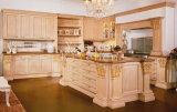 Gabinete de cozinha tradicional novo #279 da madeira contínua do projeto
