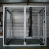 Ventana del marco de aluminio con mango del rodillo, de ventana de bisagras K03010