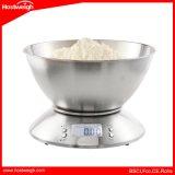 Варить маштабы кухни точности кухни баланса еды маштаба веса нержавеющей стали инструмента электронные с шаром 5kg 1g