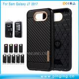 Cassa del telefono della fibra TPU del carbonio per la galassia J7 2017 di Samsung