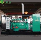 고수준 콘테이너 침묵하는 유형 물 냉각 200 Kw 석탄 침대 가스 발전기 세트