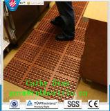 Met elkaar verbindende RubberMat, de Mat van de Workshop, RubberMat van de Drainage van de Mat van de anti-Moeheid de Rubber