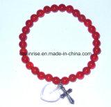 Bracelete de ágata de metais preciosas de carvalho de pedra