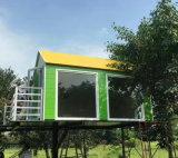 生存のための軽い鉄骨構造が付いているプレハブの容器の家