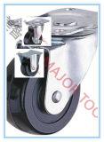 Industrieller Hochleistungsschwenker und örtlich festgelegte Fußrolle PU oder Gummi-Rad