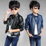 Revestimento de PU de moda para Men Boy Coat