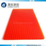 Qualitäts-rote Farben-Polycarbonat-Höhlung-Blatt für Dekoration