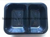 Bandeja plástica de Cpet del compartimiento del almacenaje del alimento del uso del acondicionamiento de los alimentos Industray con la tapa