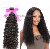 Comercio al por mayor de derechos el cabello rizado cabello peruano Remy sin procesar