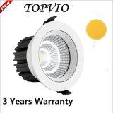 3 Años de Garantía 80ra PF0.9 20W COB LED Down Iluminación