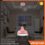 Lumière pendante simple rose moderne en gros d'usine avec la conformité