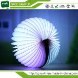 접히는 LED 밤 빛 창조적인 LED 책 빛 램프