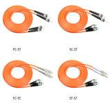 Chaqueta de PVC del conector 3.0m m del duplex LC-LC de la cuerda de corrección de la fibra con varios modos de funcionamiento