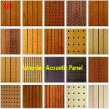 Painel acústico de madeira Forro de painel de parede decoração do Painel de Instrumentos/Cartão de cor do painel acústico de madeira