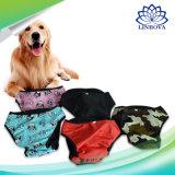 Pantaloni fisiologici lavabili sanitari dei pantaloni di Shorts degli animali domestici del pannolino di S-XXL per il cane femminile