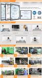 Justierbares Metallkleidung-Tuch-Bildschirmanzeige-Zahnstangen-Regal für Supermarkt/System