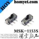 제조자 SMD 유형 3pin Spdt 활주 스위치 (MSK-1153S)