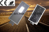 luz de calle solar integrada de 12W LED