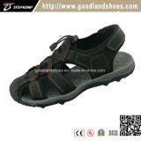 Новый стиль моды летние спортивные сандалии обувь для мужчин верхней части Кожаные босоножки 20018-1