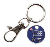 Fördernde Metalllaufkatze-Münze Keychain, Scheinmünze Keychain
