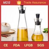 De Fles van de Saus van de Olie van het Glas van Borosilicate/de Fles van de Specerij met Roestvrij staal GLB