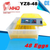 2018 Hot Sale 220V &12 V Double alimentation Ce incubateur d'oeufs de poulet entièrement automatique (YZ8-48)