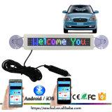 De Vertoning van het slimme Intelligente Lichtgewicht Hoge LEIDENE van de Helderheid Teken van de Auto met het Scrollen van de Vertoning Bluetooth Facultatieve LEIDENE van de Kleur van /Full van Berichten het Zwart-wit Teken van de Auto