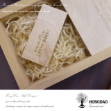 Hongdao modificó el mecanismo impulsor de madera del USB y la caja de embalaje de la foto para requisitos particulares