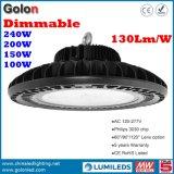 중국 심천 Manufacturer 5 Years Warranty 130lm/W 150W Lamparas LED UFO Industrial High Bay Light