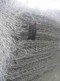 GabionボックスPVC上塗を施してある熱い浸されたGavalnized亜鉛