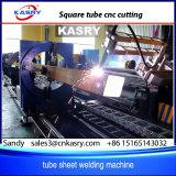 Machine de découpage en acier de commande numérique par ordinateur carrée creuse de tube et de pipe Kr-Xf8