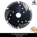 Diamond Turbo Cutting Small Saw Blade avec bride et segments