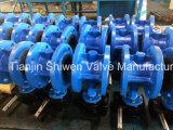 A caixa de engrenagens opera o tipo válvula da bolacha de borboleta com assento substituível