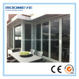 Roomeye Double Glass Aluminium Folding Door for Patio / Veranda / Sunroom