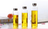 Vaso di vetro stretto dell'alta di Borosilicate di OEM/Customized di vetro aria di Transperent