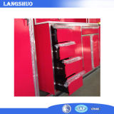 Rotes Garage/Kitchen Used Metal Cabinet mit Drawers und Lockers