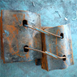 Placa de revestimento de aço de fundição de alta qualidade / forros para moinhos de moagem