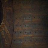 Grandes peças da carcaça de forros do moinho, placas de aço do forro