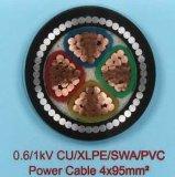 A tensão média 20kv Isolados em XLPE de condutores de cobre do fio de aço blindado cabo de alimentação