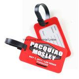 Venda por grosso de etiqueta de bagagem em PVC maleável personalizado para Promotionial Dom