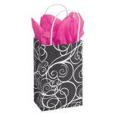gift Bags와 작은 우아한 소용돌이 종이 구매자 Vendor 달러 장군
