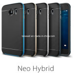 Constructeur chaud 2 d'accessoires de téléphone mobile de vente dans 1 cas combiné de téléphone cellulaire de TPU+PC pour la galaxie de Samsung S6/S6 Edge/S6 plus la caisse de téléphone
