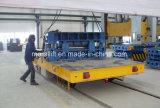 Industria de metal usar la carretilla plana eléctrica del carril