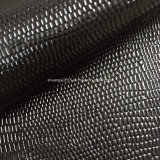 De Oppervlakte Pu Leaher van het Metaal van het Patroon van de slang voor Schoenen